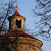 St. Martin Rotunda at Vysehrad with late spring sun - Prague