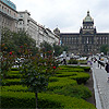 Wenceslas Square - business and shopping centre of Prague